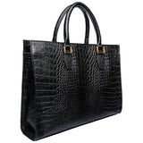 Hidesign Kester Embossed Leather Women's Work Bag Briefcase Black