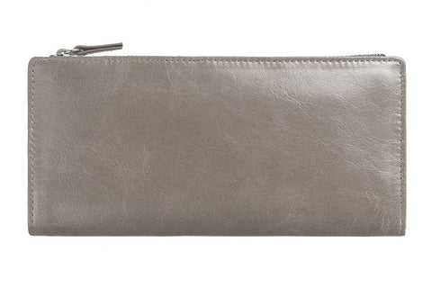 STATUS ANXIETY Dakota Leather Wallet Light Grey