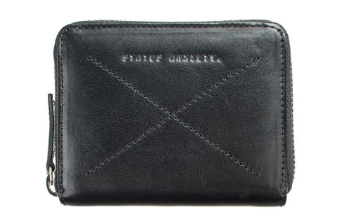 STATUS ANXIETY Darius Leather Wallet Black