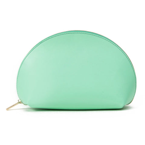 Paperthinks Recycled Leather Cosmetic Case Pistachio Green