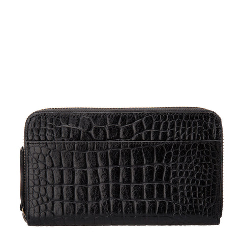 STATUS ANXIETY Delilah Leather Wallet Black Croc