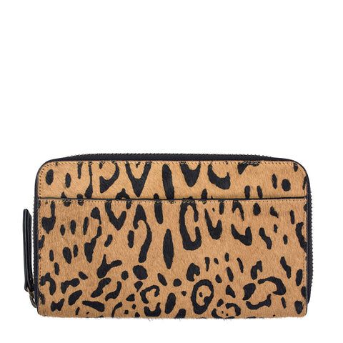 STATUS ANXIETY Delilah Leather Wallet Leopard