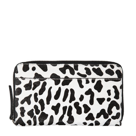 STATUS ANXIETY Delilah Leather Wallet Snow Leopard
