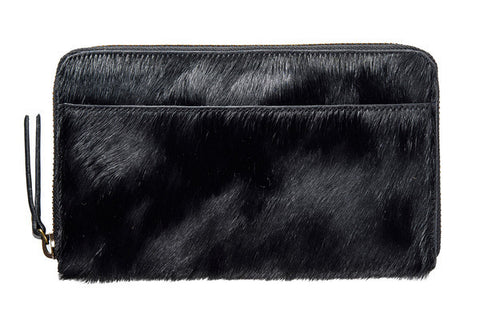 STATUS ANXIETY Delilah Leather Wallet Black Fur
