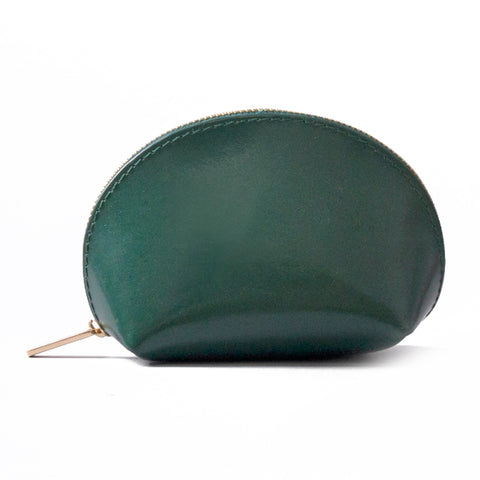 Paperthinks Recycled Leather Coin Pouch Deep Olive Green