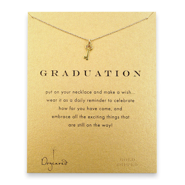 Dogeared Graduation Necklace - Gold Dipped
