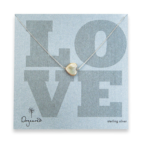 Dogeared Love Pearl Heart - Sterling Silver