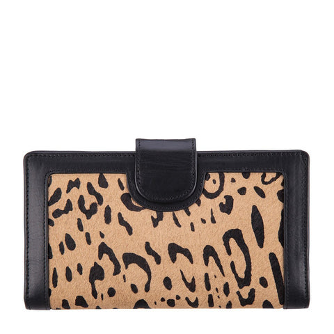 STATUS ANXIETY Doris Leather Wallet Leopard