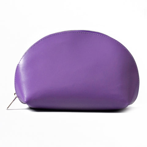 Paperthinks Recycled Leather Cosmetic Case Violet Purple