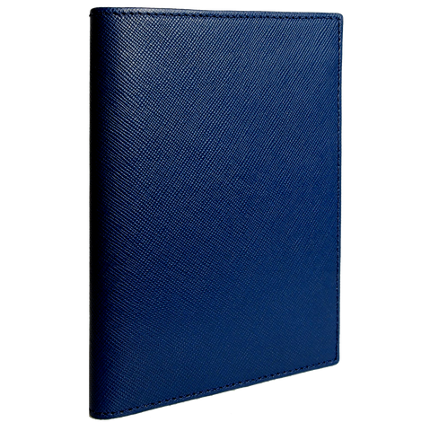 72 Smalldive Saffiano Leather Bi Colored Passport Wallet Blue