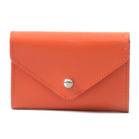 Paperthinks Leather Card Envelope Tangerine Orange