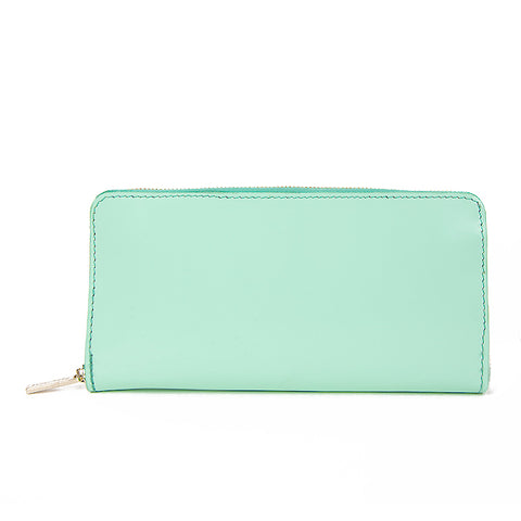 Paperthinks Recycled Leather Long Zip Wallet Pistachio Green