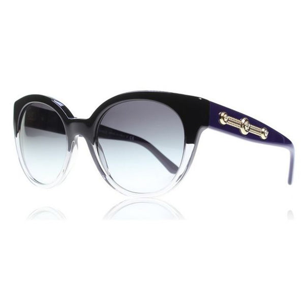 Versace Black and Grey Gradient 56 mm Women's Sunglasses Plastic Frame VE429451508G