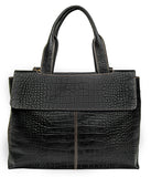 Hidesign Women's Leather Laptop Briefcase Work Bag Black
