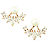Kristin Perry Iced Pearl Ear Jacket Earrings