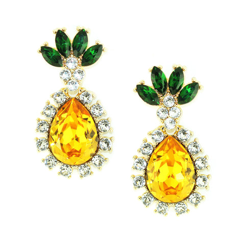 Kristin Perry Pineapple Crystal Drop Earrings