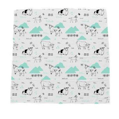 Young and Free Apparel Swaddle Blanket Rolling Pastures