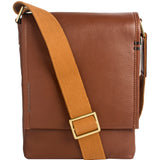 Hidesign Seattle Unisex Leather Crossbody Messenger Bag Brown