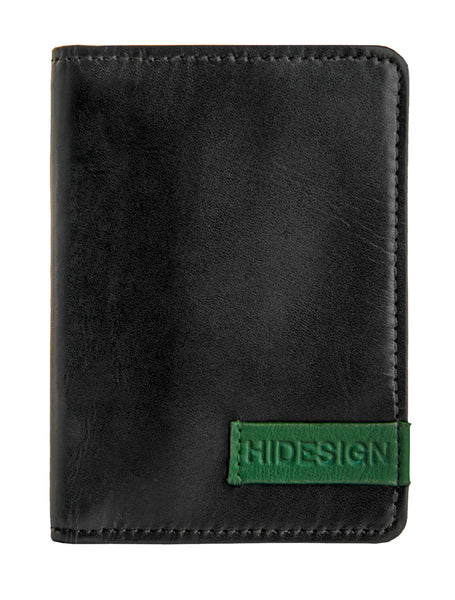 Hidesign Dylan Leather Slim Card Holder with ID Compartment Black