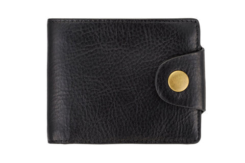 STATUS ANXIETY Eli Leather Wallet Black