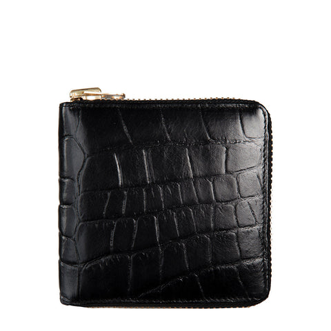 STATUS ANXIETY Empire Croc Leather Wallet Black