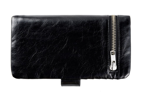 STATUS ANXIETY Esther Leather Wallet Black