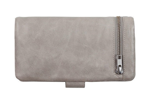 STATUS ANXIETY Esther Leather Wallet Light Grey