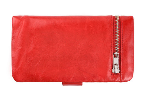 STATUS ANXIETY Esther Leather Wallet Red