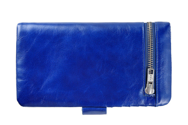 STATUS ANXIETY Esther Leather Wallet Royal Blue