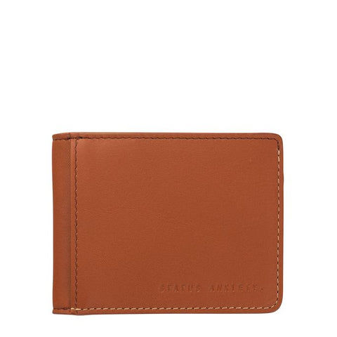 STATUS ANXIETY ETHAN LEATHER WALLET CAMEL BROWN