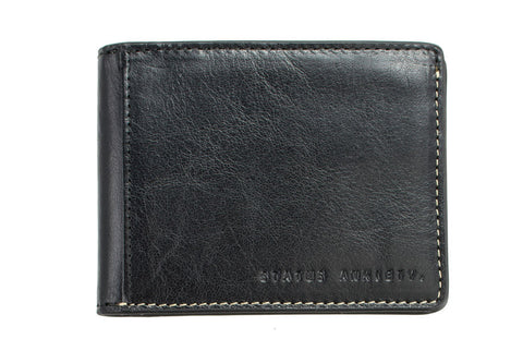 STATUS ANXIETY Ethan Leather Wallet Black