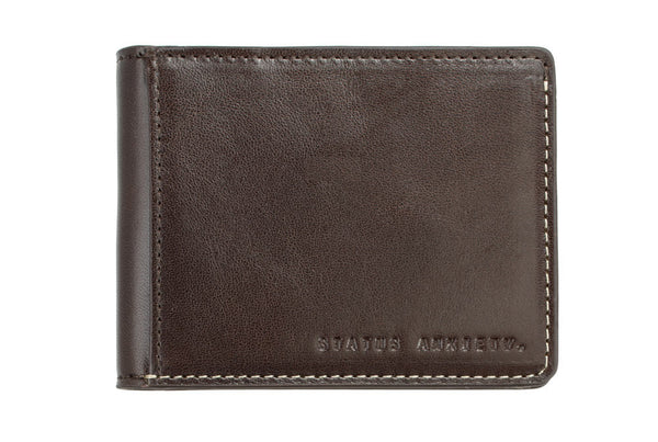 STATUS ANXIETY Ethan Leather Wallet Chocolate