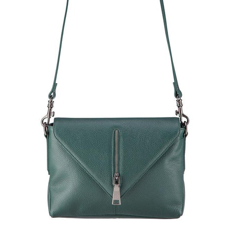 Status Anxiety Exile Leather Shoulder Bag Green Free Wallet