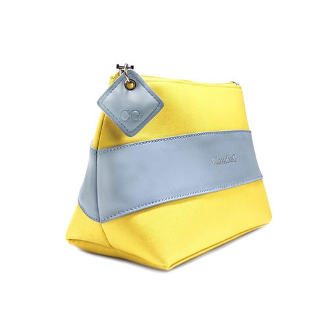 CaludiaG Leather Beauty Pouch Yellow Pollen