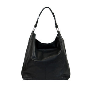 Manzoni Leather Bag (Style F74) SALE - BLACK