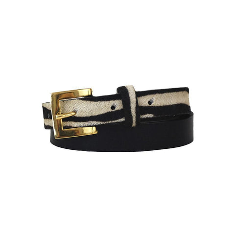 Claudia G Sophia Leather Belt Black