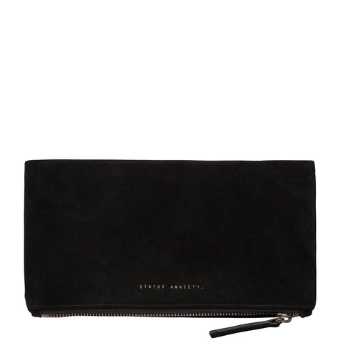 STATUS ANXIETY FEEL THE NIGHT CLUTCH/WALLET BLACK