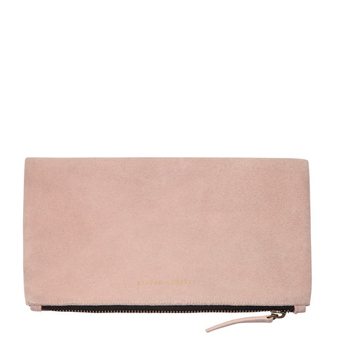 STATUS ANXIETY FEEL THE NIGHT CLUTCH/WALLET DUSTY PINK