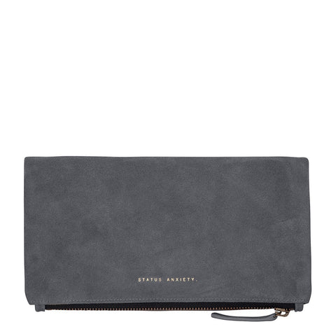 STATUS ANXIETY FEEL THE NIGHT CLUTCH/WALLET  SLATE GREY