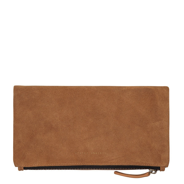 STATUS ANXIETY FEEL THE NIGHT CLUTCH/WALLET TAN