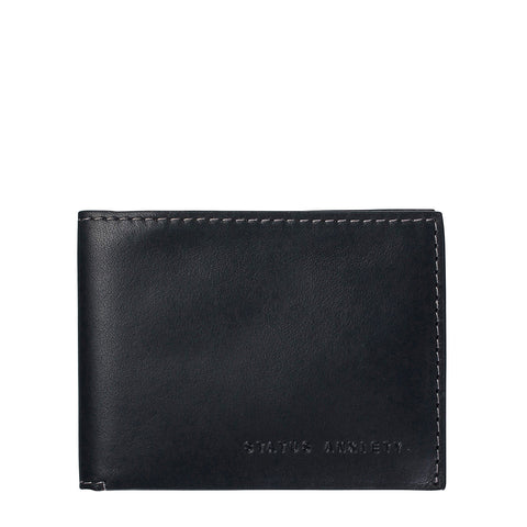STATUS ANXIETY Felix Leather Wallet Black