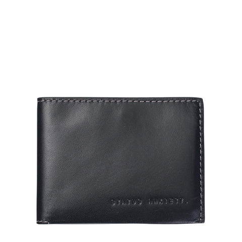 STATUS ANXIETY Felix Leather Wallet Charcoal Grey