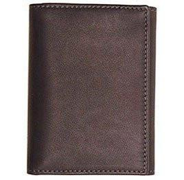 FLOTO FIRENZE LEATHER TRI-FOLD WALLET GREY