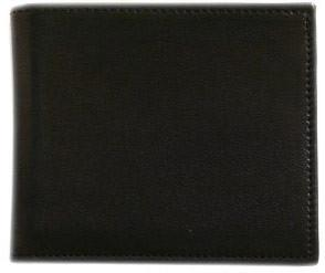 FLOTO Leather Firenze Collection Double Billfold Wallet Black