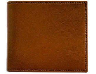 FLOTO Leather Firenze Collection Double Billfold Wallet Brown