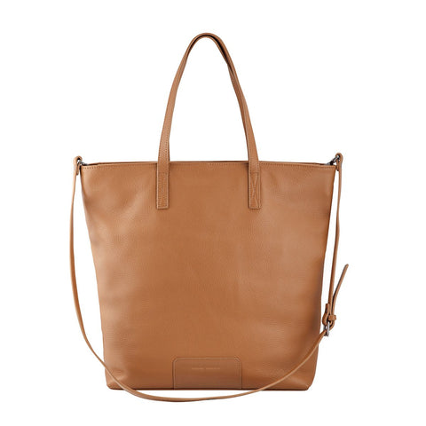 STATUS ANXIETY FIRE ON THE VINE LEATHER BAG TAN WITH FREE WALLET