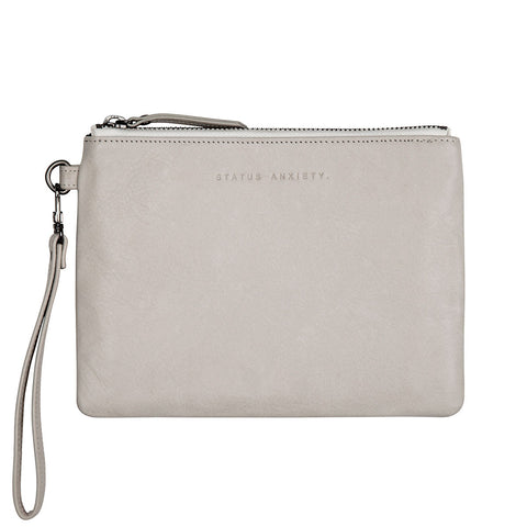 STATUS ANXIETY Fixation Leather Clutch Wallet Cement Grey