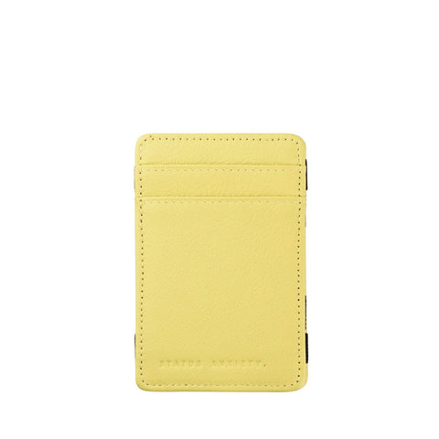 STATUS ANXIETY MAGIC FLIP LEATHER WALLET ACID YELLOW