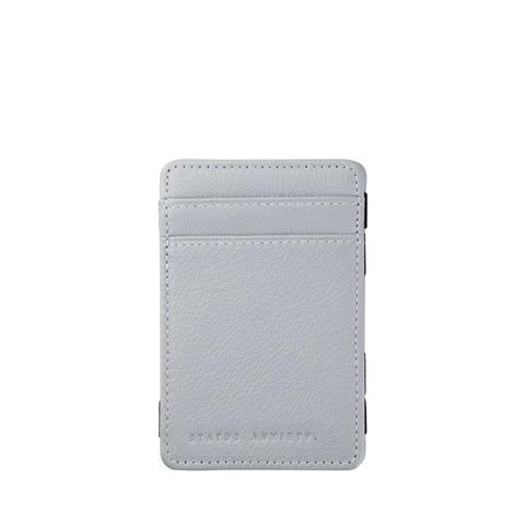 STATUS ANXIETY MAGIC FLIP LEATHER WALLET ARTIC GREY