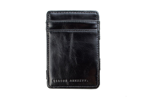 STATUS ANXIETY Magic Flip Leather Wallet Black